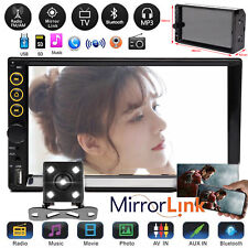 7inch 2DIN Car Stereo Mp5 Player Mirror For Navigation GPS Radio HD Rear Camera