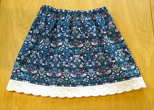 Girl's Age 3-4 Years Liberty of London Handmade Cotton Skirt, Strawberry Thief