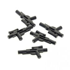 5 x Lego System Waffe Pistole schwarz kurz Blaster mit Ziel Visier Schusswaffe f