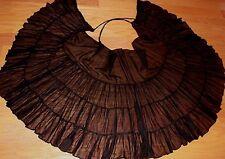 Black Wrap Skirt Gypsy Tribal Fusion Belly Dance ATS
