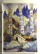 """Emily CARR """" Haida Totems """" Out of print Group of Seven art Totem Poles"""