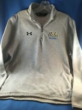 Preowned UCLA VOLLEYBALL GREY UNDER ARMOUR COLDGEAR 1/4 ZIP FLEECE JACKET-MEDIUM