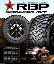 4 X New RBP Repulsor M/T 37x13.50R26 LT 104Q 10Ply All Terrain Mud Tires MT