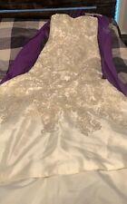 Oleg Cassini Mikado Wedding Dress with Lace Size 10