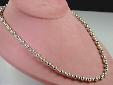 w/ Ss Clasp 19' Length Nwot Sterling Silver & Gold Filled Bead Necklace