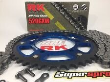 '06-18 Yamaha R6 RK 520 Blue SuperSprox OEM Ratio Racing Chain and Sprocket Kit