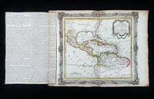 1766 DESNOS: Amazing map: AMERICAS, CENTRAL AMERICA, MEXICO, CARIBBEAN, ANTILLES