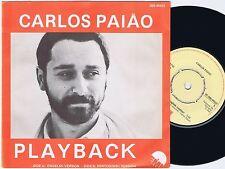 CARLOS PAIAO Playback Danish 45PS 1981 eurovision Portuguese & English Version