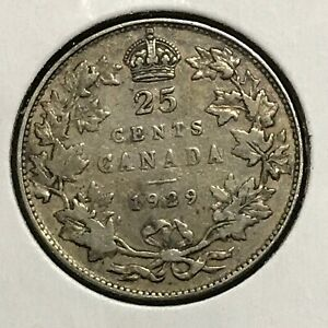 Canada 25 Cents KM 24a VF 1929