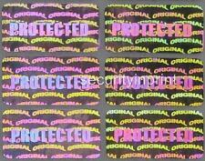 """""""protetti"""" Ologramma OLOGRAFICA sicurezza adesivi etichette GUARNIZIONE 20x10mm r2010-1s"""