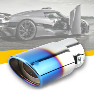 Car Exhaust Pipe Tip Rear Tail Muffler Stainless Chrome Universal Accessories US