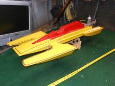 Vintage 351 Cleveland R/C Speed Boat w' 3.5 K&B Engine Racing Hydroplane RARE