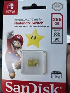 SanDisk SDSQXAO-256G-GNCZN 256GB MicroSDXC UHS-I Card for Nintendo Switch