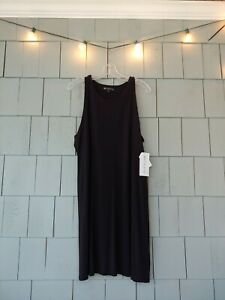 Athleta Santorini High Neck Dress Black A Line XL X-Large
