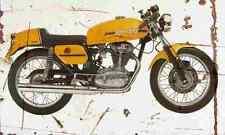 Ducati 350 Desmo 1974 Aged Vintage SIGN A4 Retro