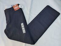NWT MENS DOCKERS MODERN KHAKI SLIM TAPERED FLAT FRONT $58 NAVY 49931-0122