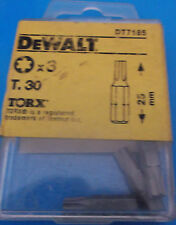 Dewalt Screwdriver Bits T30 Torx / Star Key T.30 Bit X 3