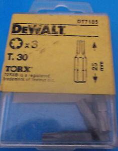 Dewalt Screwdriver Bits T30 Torx / Star Key T.30 Bit X 3