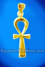 18k Gold Egyptian Ankh Pendant Jewelry
