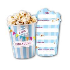 Schön Einladungskarten Kino 6 Stück Kindergeburtstag Einladungen Einladung Party