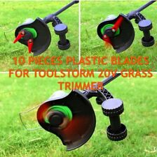 10x Plastic Replacement Blades Trimmer For TOOLSTORM 20V Grass Trimmer