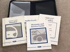 Ford Owners Guide Mondeo Audio Guide Service Guide