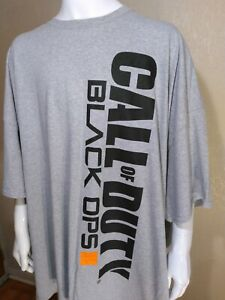 CALL OF DUTY BLACK OPS 3 III 5XL T-Shirt Logo Gray XXXXXL BIG 5X RARE GAMER USA