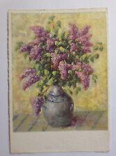 """""""Blume, Vase, Flieder"""" 1950, Flechsig Kunstkarte, Sofia Becker ♥ (45529)"""