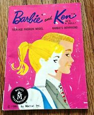 Vintage 1961 BARBIE and KEN FASHION BOOKLET FANTASTIC CONDITION JAPAN
