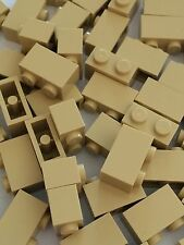 Lego 1x2 Tan Bricks Blocks 1 x 2 new lot of 50