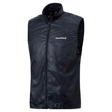 Montbell men's New light wind vest multiple sizes Graphite Blue FREE shipping!
