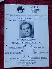 BOXING PROGRAMME - GEORGE DANAHAR V DOUG JAMES - 1980