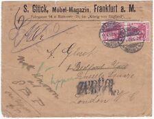 * 1905 S Gluck Francfort Allemagne > uk london retourné lettre bureau inconnu PMKS