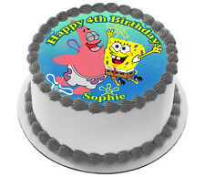SPONGEBOB  REAL EDIBLE ICING  CAKE TOPPER PARTY IMAGE FROSTING SHEET