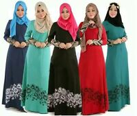 Dubai Abaya Kaftan Muslim Women Long Dress Islamic Cocktail Maxi Party Robe Gown