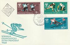 1967 Bulgaria FDC cover Winter Olympic Games Grenoble (set 2 covers)