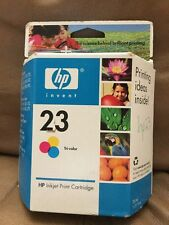 Genuine HP 23 Tri-Color Ink Cartridge Magenta Cyan Yellow Never Opened