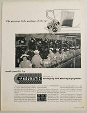 1955 Print Ad Pneumatic Packaging & Bottling Equipment Tetley Tea Bag Line