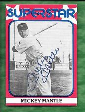 Mickey Mantle 1982 Superstar certified autograph card