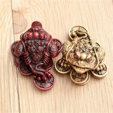 1Pair Chinese Feng Shui Small Three Legged Money Toad Enhance Fortune Frog Decor