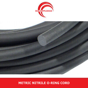 LOW PRICE - Metric Nitrile NBR O Ring Cord Sold by the metre - Various Sizes
