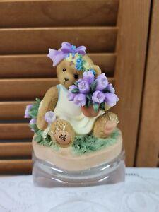 2008 Cherished Teddies Bear Blooming Easter Blessings 4013279 Abbey Press