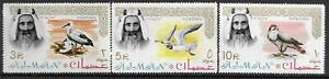 1964   AJMAN  -  SG.  16 / 18  -  BIRDS -  (53 X 34MM)   -  MNH