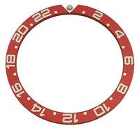 NEW RED GMT BEZEL INSERT FOR SKX007 SKX009