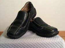 Born Loafers Shoes Mocs Slip Ons Black Leather Women's 9.5 / 41 EUC