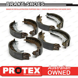 Front + Rear Protex Brake Shoes for KIA Ceres 2.4L Diesel Some 1997-00