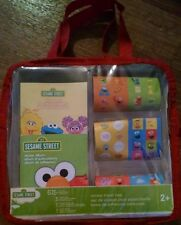 Sesame Street Sticker Travel Bag Kit Elmo Cookie Monster Big Bird