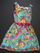 Twirls & Twigs Easter Aqua/Pink/Yellow Floral Party Dress Sz 7 Nordstrom $40 NWT