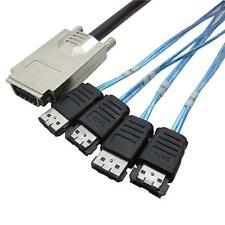 Free Shipping Mini SAS 34P SFF 8470 4x E SATA 7P INFINIBAND TO 4 ESATA 1M Cable