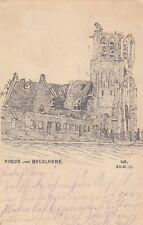 Beselare Künstler-AK 1915 Kirche Kerk Zonnebeke Belgien Belgique 808136